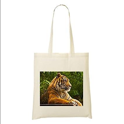 Tiger - Bolsa de tela, diseño con imagen # 19: Amazon.es: Hogar