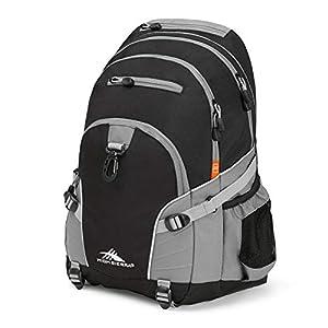 High Sierra Loop Backpack, 19 x 13.5 x 8.5-Inch, Black/Charcoal