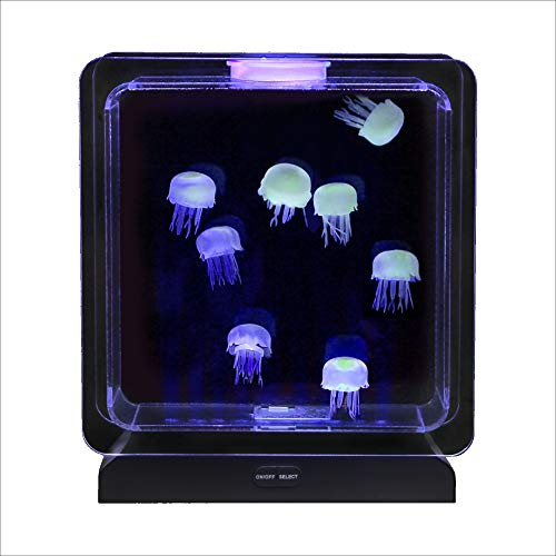 Lightahead Illuminated Artificial Aquarium Mood Lamp with 30 LEDs, 5 Color Changing Light Effects Fish Tank ()