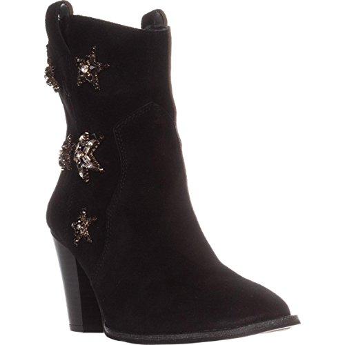 INC International Concepts I35 Dazzle Ankle Boots - Black Suede