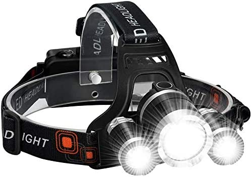 Details about  /2Sets USB Rechargeable 350000Lumens LED Bright Headlamp Headlight HeadTorch