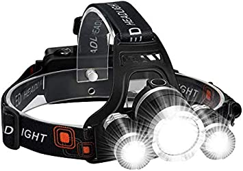 2-3PCS Powerful 990000LM LED Headlamp Rechargeable Headlight Camping Head Torch