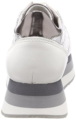 Femme Blanc 23703 Tamaris Sneakers white silver Basses nxtnUqwF