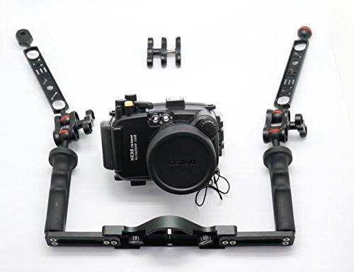 Meikon 40m/130ft Underwater Housing For Sony Nex 6 16-50mm Full Diving kit