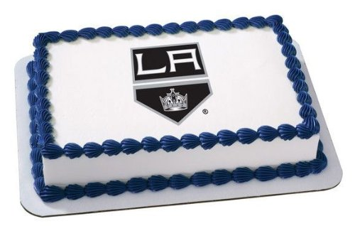 8 Round NHL Los Angeles Kings Hockey Logo Edible Image Cake Cupcake Topper