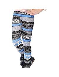 Csbks Girls Fleece Lined Thick Leggings Colorful Autumn Winter Warm Pants