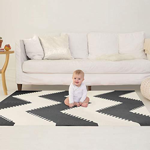 Buy skip hop floor tiles foam black and white