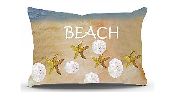 Amazon.com: Cojín de playa con conchas de mar y arena: Home ...