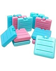 ToCi Kleine Kühlakkus in Blau, Pink und Grün | Mini Kühl-Elemente für die Kühltasche | Kühl-Akku für die Brotdose