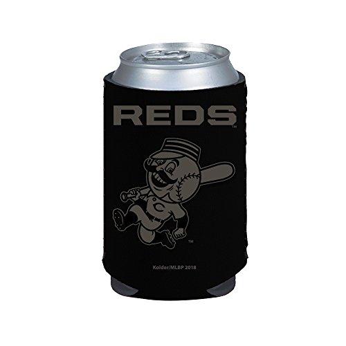 Cincinnati Reds 2-Pack BLACK TONAL CAN Koozie Neoprene Holder Cooler Baseball