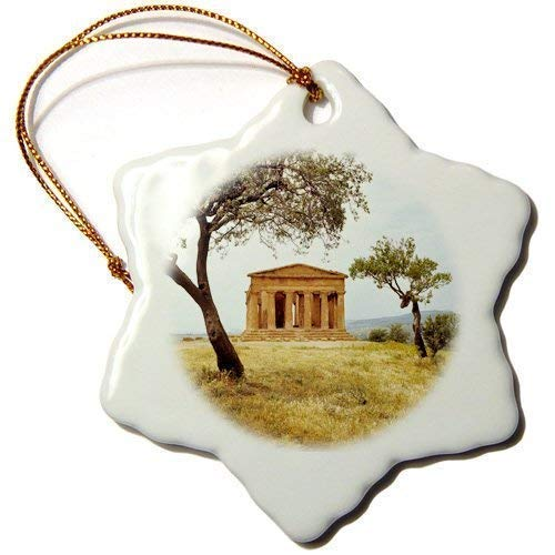 Cheyan Temples - Italy, Sicily, Agrigento, Temple Concord Ruins RIC Ergenbright Ceramic Christmas Ornaments 2018 Keepsake for Christmas Decorations,Tree Decor,3 Inches