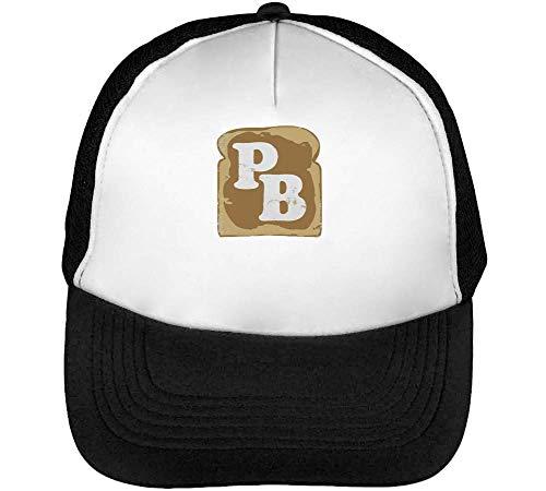 Snapback Hombre Beisbol Blanco PB Peanut Negro Gorras xzF4q88