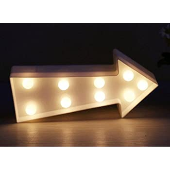 New Amazon.com: Marquee LED Lighted Arrow Sign Wall Decor Battery  ET96