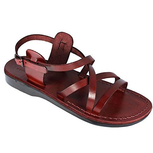 #002 Sandalen, Braun, aus echtem Leder, Größe35-46