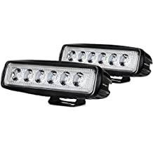 Nilight Led Light Bar 2PCS 18w Spot Driving Fog Light Off Road Lights Boat Lights driving lights Led Work Light SUV Jeep Lamp,2 years Warranty