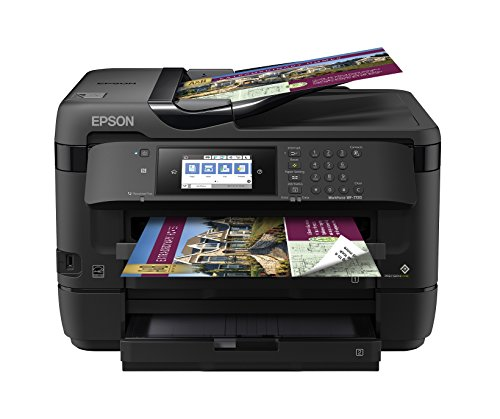 Workforce WF-7720 Wireless Wide-Format Color Inkjet Printer with Copy, Scan, Fax, Wi-Fi Direct and Ethernet, Amazon Dash Replenishment Enabled (Epson One In All)