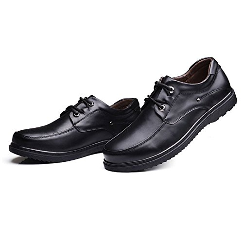 HGDR Da Uomini Derby Grandi Uomini Business Dimensioni Black Per Mocassini Appartamenti Nero Dress Shoes Lace Guida Degli Genuino Up Formali Cuoio Di Scarpe Casual Gli Oxford rRwPxnSprq