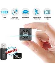 Mini Telecamera Spia Nascosta, FLYLINKTECH 1080P Microcamera Spy Videocamera Portatile per Video Sorveglianza con Scheda SD da 32GB