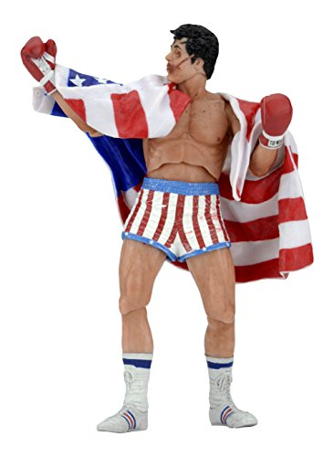 NECA Rocky 40Th Anniversary Scale Action Figure Series 2 Rocky (American Flag Trunks), 7""