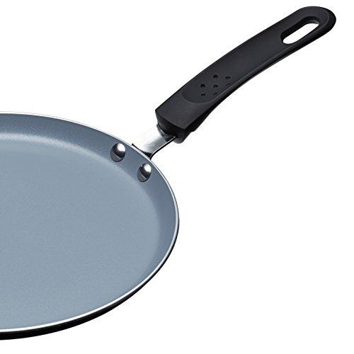 Argent Aluminium 20 cm Kitchen Craft MCCPCER24 Po/êle /à Cr/êpes