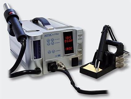 Aoyue int2738Aire Caliente Soldadura Estación 60W regulable con soldador y extractor