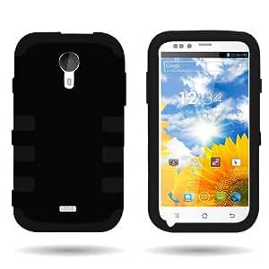 CoverON® for BLU Studio 5.0 D530 Hybrid Case - Slim Dual Layer Protective Hard Polycarbonate Flexible TPU Hybrid Phone Cover - Black