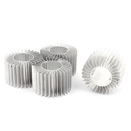 DealMux 4 Pcs Led lâmpada de alumínio do dissipador de calor do radiador de arrefecimento 57mmx29mmx37mm