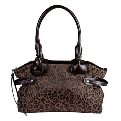 Rina Rich 'Leo Helena' Nylon Canvas Satchel (Brown Leo) - Bella Satchel