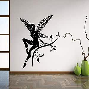 BailongXiao Wildflower Fairy Tree Wings Tatuajes de Pared Adhesivo ...