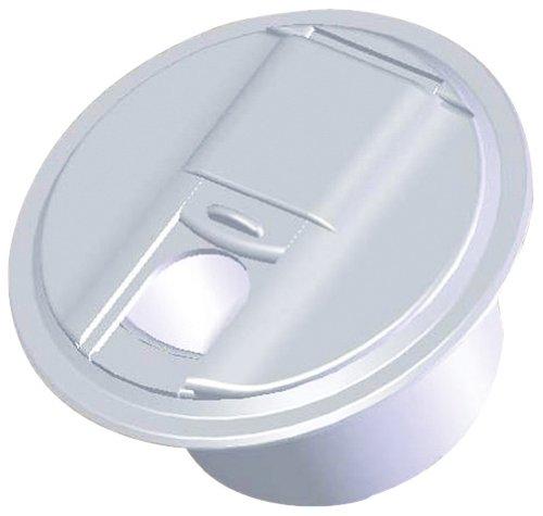 (RV Designer B101, Round Electrical Cable Hatch, Universal, 5 inch Diameter, Polar White)