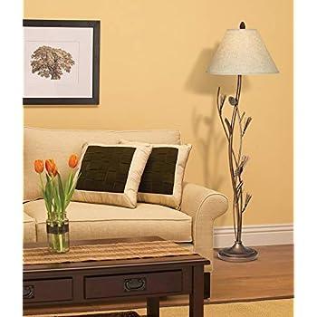 Cal Lighting BO-961FL Pine Twig Iron Floor Lamp