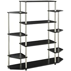 Convenience Concepts Designs2Go Wall Unit Bookshelf, Black
