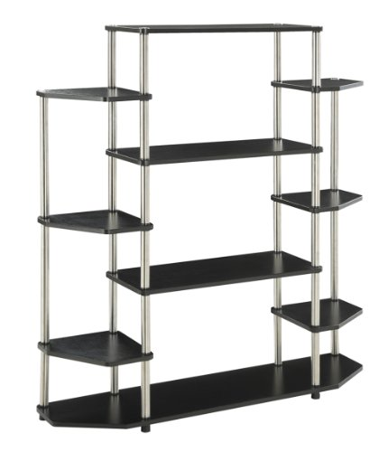Convenience Concepts 131201 Designs2Go Wall Unit Bookshelf, Black