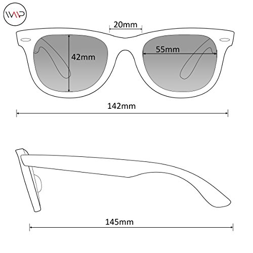 polarizadas de Negro para Gafas plana lentes negras hombre y cuadradas parte Mate con superior sol BEBcC
