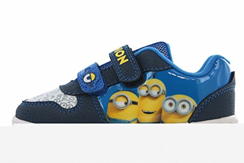 Despicable Me Minions Morton Blue and Yellow Hook and Loop Trainers Size 12 (Despicable Me Shoes)