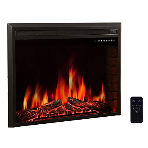 """R.W.FLAME 39"""" Electric Fireplace Insert,Freestanding & Reces"""