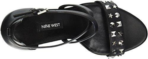 Nine 25033501 Maziany Womens Black Leather West Oqpra1SO