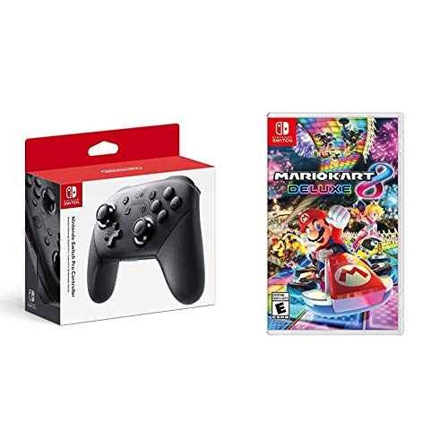 Bigwords Com Nintendo Switch Pro Controller Bundle With Mario Kart 8 Deluxe Nintendo Switch 0045496590161 Buy New And Used Video Gameses