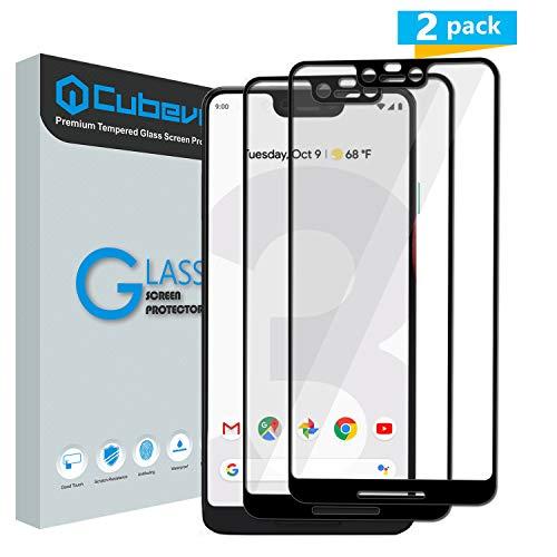 Cubevit Google Pixel 3 XL Screen Protector, [2 Pack] Full Coverage/Case Friendly/Bubble Free/Anti-Scratch/HD Clear 2.5D 9H Film Premium Tempered Glass Screen Protector for Google Pixel 3 XL 2018