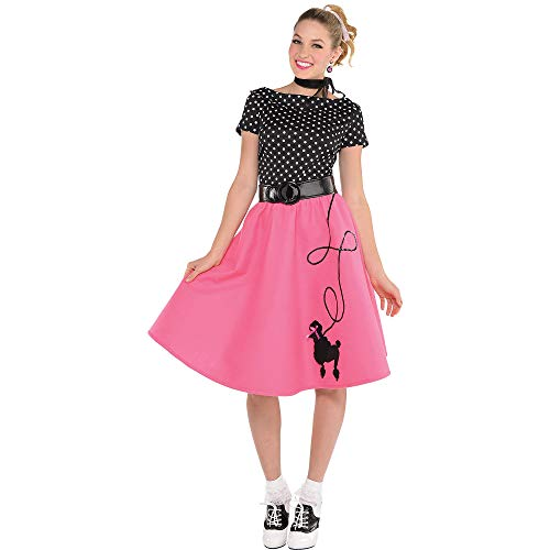 Adult 50's Flair Poodle Skirt Costume - Large (10-12) -