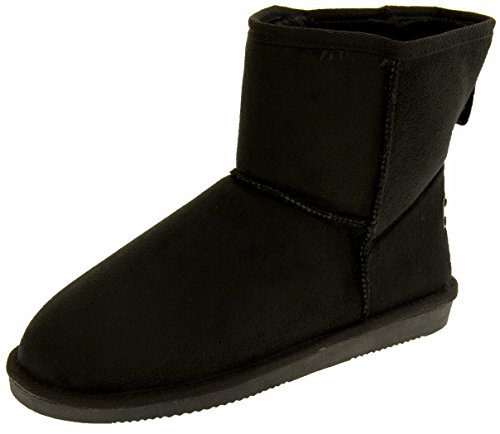 Winter Faux Boots Rock Red Black Women's Suede 4wqInE7
