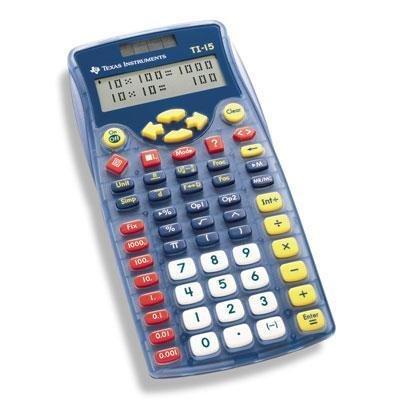 selected ti 15 school calculator