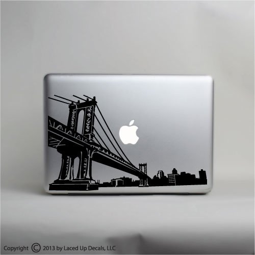 Amazoncom Brooklyn Manhattan Bridge Skyline Laptop Vinyl Decal - Custom vinyl decals brooklyn