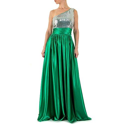 44 Ital In Damen Ball Maxi Design Festamo Satin Gr Grün Für bei Kleid nzg50XP