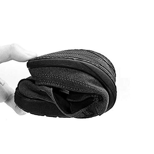 Zapatos Lona de de Zapatos de de los Lona Hombres de Black Ocasionales Lona Tendencia Black de Hombres Zapatos WangKuanHome de 41 Salvajes Mezclilla Zapatos Color los Verano Size d7qdO0
