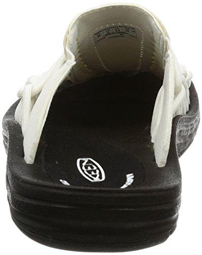 KEEN Women's Uneek Slide-w Sandal White/Black sneakernews for sale shop for cheap online footlocker finishline cheap online Chg58cDv2