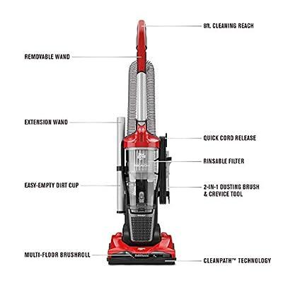 Dirt Devil Endura Reach Upright Bagless Vacuum Cleaner for Carpet and Hard Floor