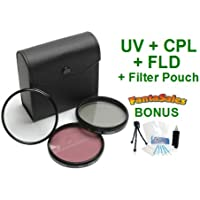 58mm Digital High-Resolution Filter Kit (UV, CPL, FLD) For Select Olympus Digital SLR Cameras. UltraPro Bundle Includes: Mini Travel Tripod, Cleaning Kit, Screen Protectors