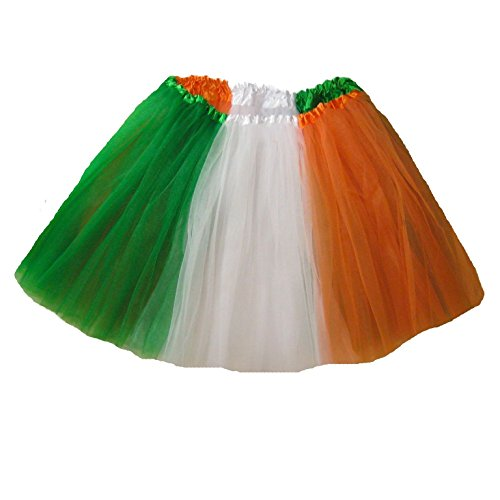 [Southern Wrag Company . Adults . St Patricks IRISH FLAG Tutu . Waist 30-54 Length 16] (Usa Flag Dress Teen Costumes)