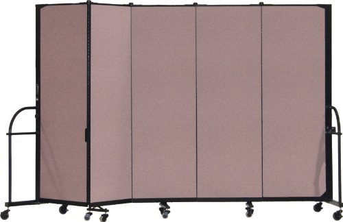 Screenflex Heavy Duty Portable Room Divider (HFSL605-DM) 6 Feet High by 9 Feet 5 Inches Long, Designer Rose Fabric by Screenflex